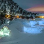 Stay in a luxury cabin at Kirkenes Snow hotel Norway